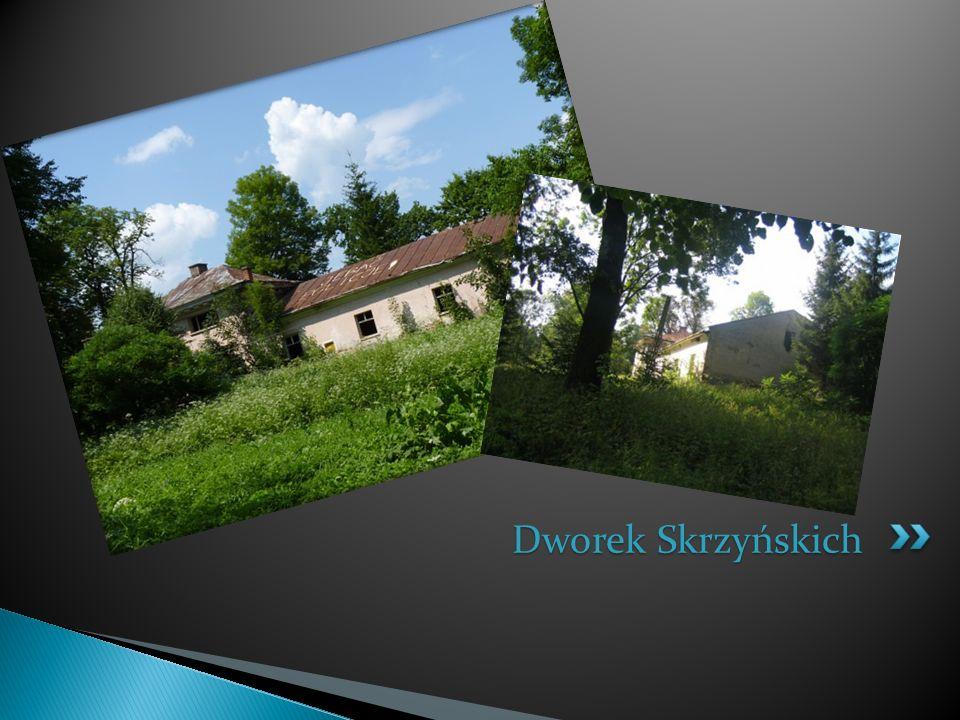 Kaplica Skrzyńskich z końca XIX w znajduję się w tzw. Dębinie ozdobiona krzyżem i statuą Matki Boskiej.Nad drzwiami wejściowymi znajduje się herb Skrz