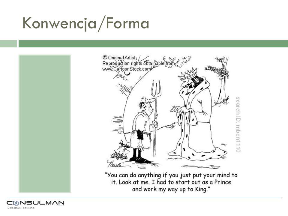 Doradztwo i szkolenia Konwencja/Forma