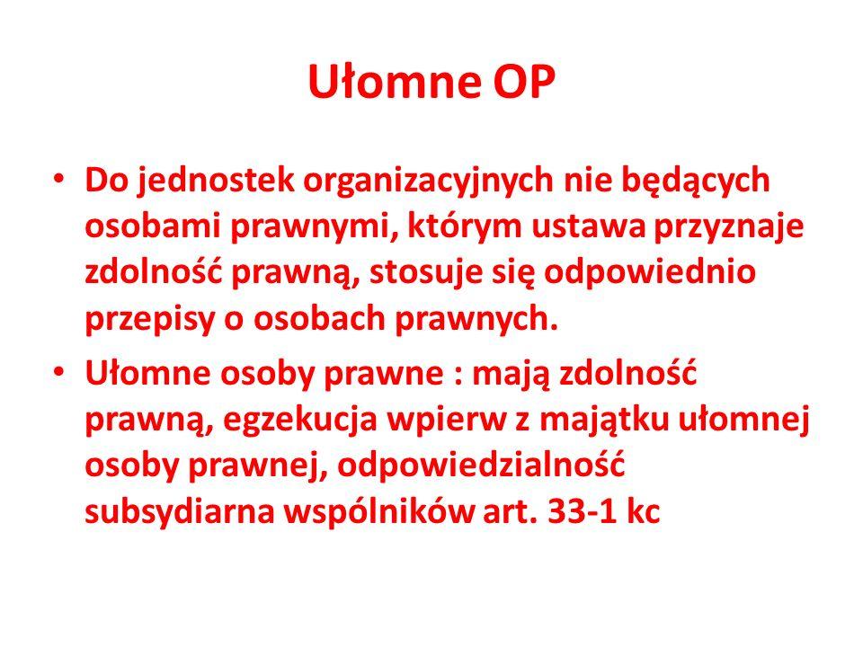 OP Osoba prawna ma określoną przepisami prawa strukturę organizacyjną, w tym system organów.