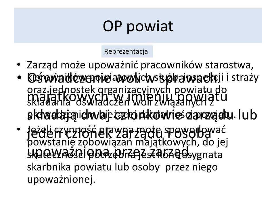 OP województwo Sejmik Sejmik województwa m.inn.