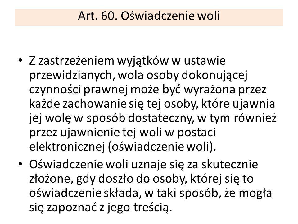 Nieważność / brak świadomości i swobody/ Art.82.