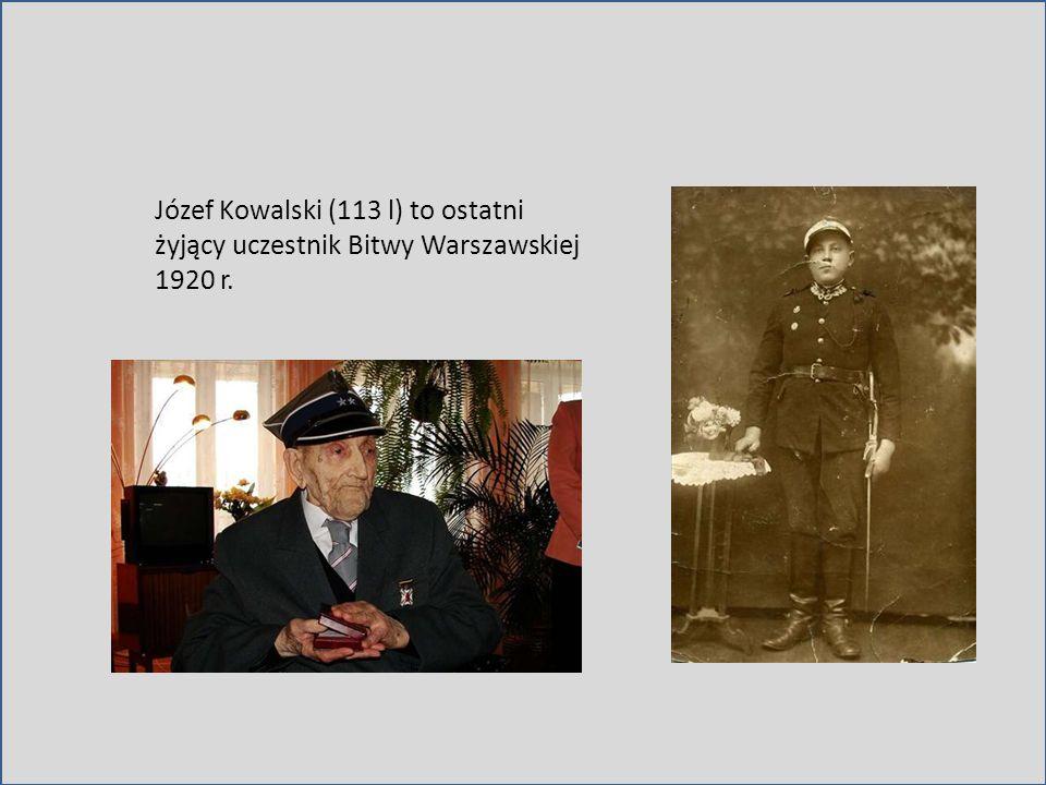 Józef Kowalski (113 l) to ostatni żyjący uczestnik Bitwy Warszawskiej 1920 r.