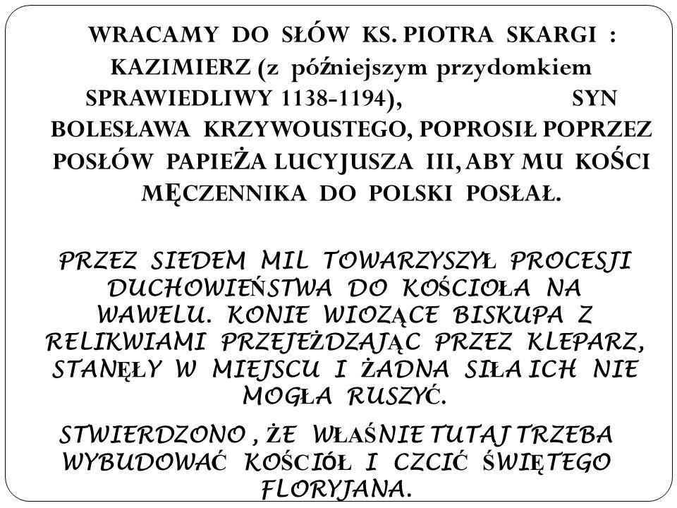 WRACAMY DO SŁÓW KS.