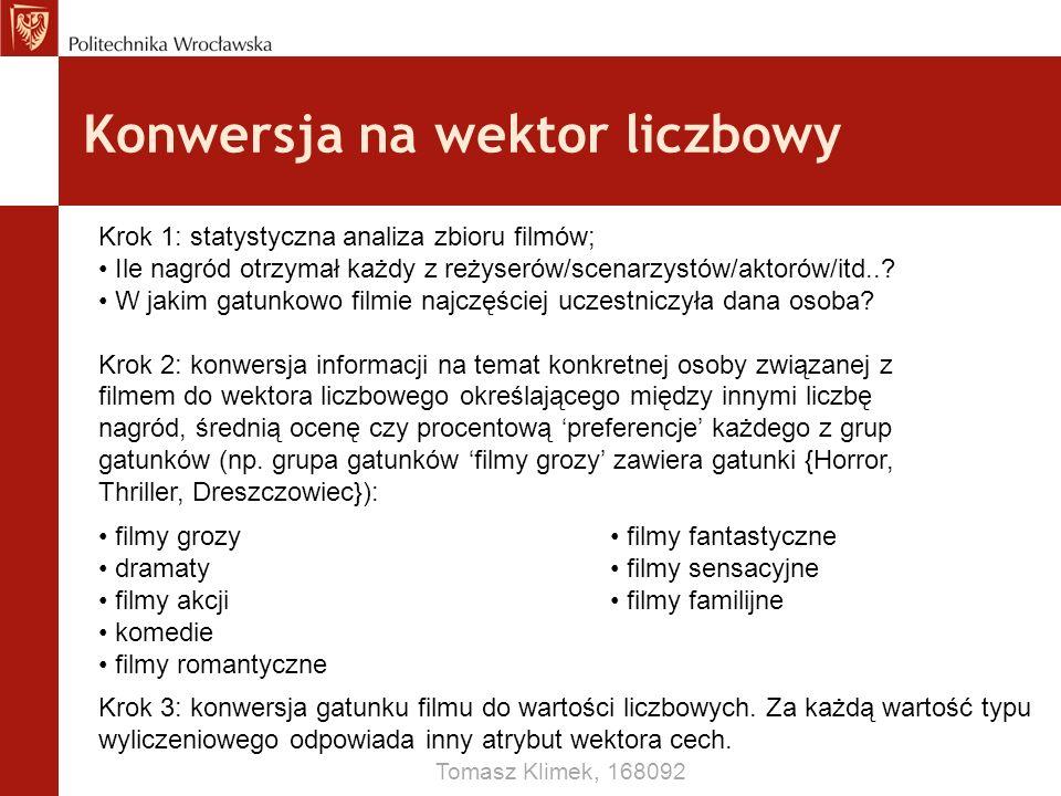 Konwersja na wektor liczbowy Tomasz Klimek, 168092 Krok 1: statystyczna analiza zbioru filmów; Ile nagród otrzymał każdy z reżyserów/scenarzystów/akto