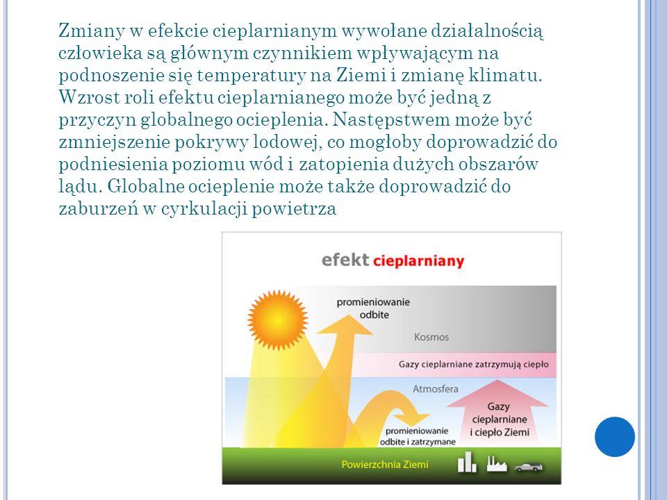 Zmiany w efekcie cieplarnianym wywołane działalnością człowieka są głównym czynnikiem wpływającym na podnoszenie się temperatury na Ziemi i zmianę kli