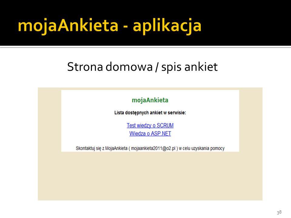 Strona domowa / spis ankiet 38