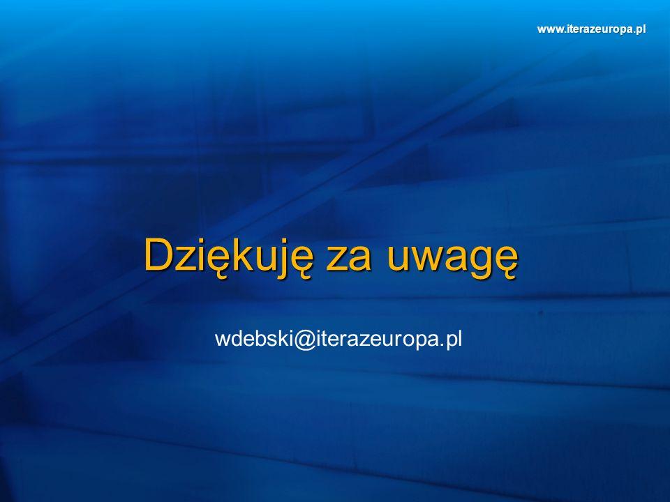 www.iterazeuropa.pl Dziękuję za uwagę wdebski@iterazeuropa.pl