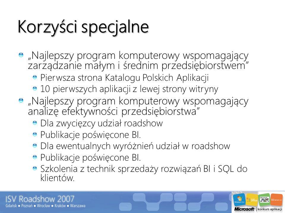 Korzyści specjalne Najlepszy program komputerowy wspomagający zarządzanie małym i średnim przedsiębiorstwem Pierwsza strona Katalogu Polskich Aplikacj