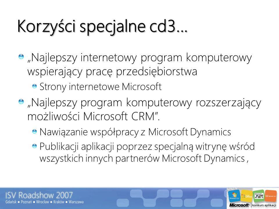 Korzyści specjalne cd3... Najlepszy internetowy program komputerowy wspierający pracę przedsiębiorstwa Strony internetowe Microsoft Najlepszy program