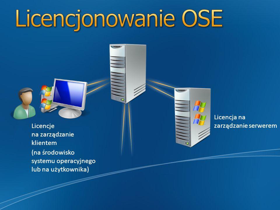Datacenter Można zarządzać dowolną liczbą środowisk OSE na danym serwerze.