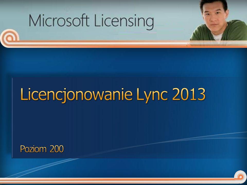 Licencje dostępowe Wprowadzenie do Lync 2013 Szczegóły licencjonowania