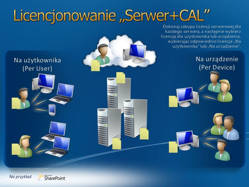 Licencja CAL na oprogramowanie SharePoint Server 2013 Standard lub pakiet Licencji Core CAL lub Licencja Core CAL Bridge do usługi Windows Intune lub pakiet Licencji Enterprise CAL lub Licencja Enterprise CAL Bridge do usługi Windows Intune 1 lub LS na Użytkownika do usługi Office 365 Enterprise E1-E4 lub LS na Użytkownika do usługi Office 365 Academic A3-A4 lub LS na Użytkownika do usługi Office 365 Government G1-G4 lub LS na Użytkownika do usługi SharePoint Online Plan 1 lub LS na Użytkownika do usługi SharePoint Online Plan 1G lub LS na Użytkownika do usługi SharePoint Online Plan 2 lub LS na Użytkownika do usługi SharePoint Online Plan 2A lub LS na Użytkownika do usługi SharePoint Online Plan 2G