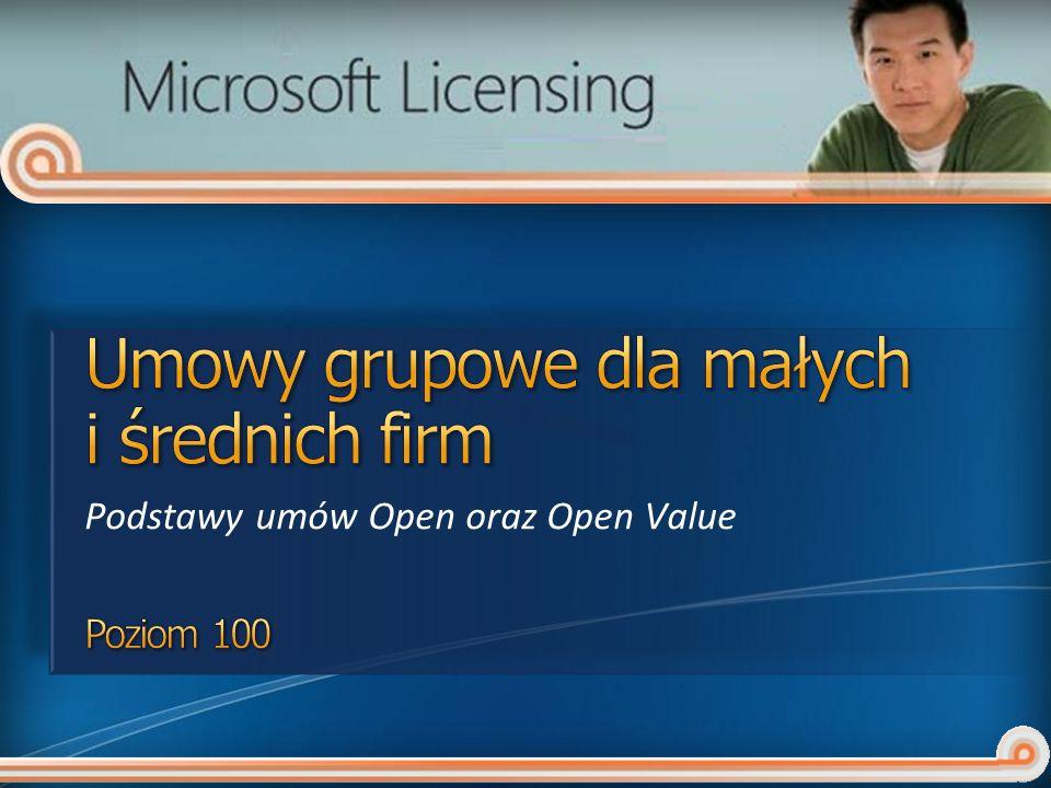 Podstawy umów Open oraz Open Value
