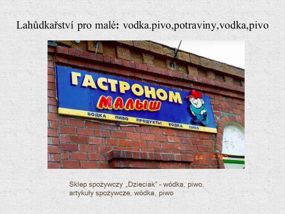 Sklep spożywczy Dzieciak – wódka, piwo, artykuły spożywcze, wódka, piwo Lahůdkařství pro malé: vodka.pivo,potraviny,vodka,pivo