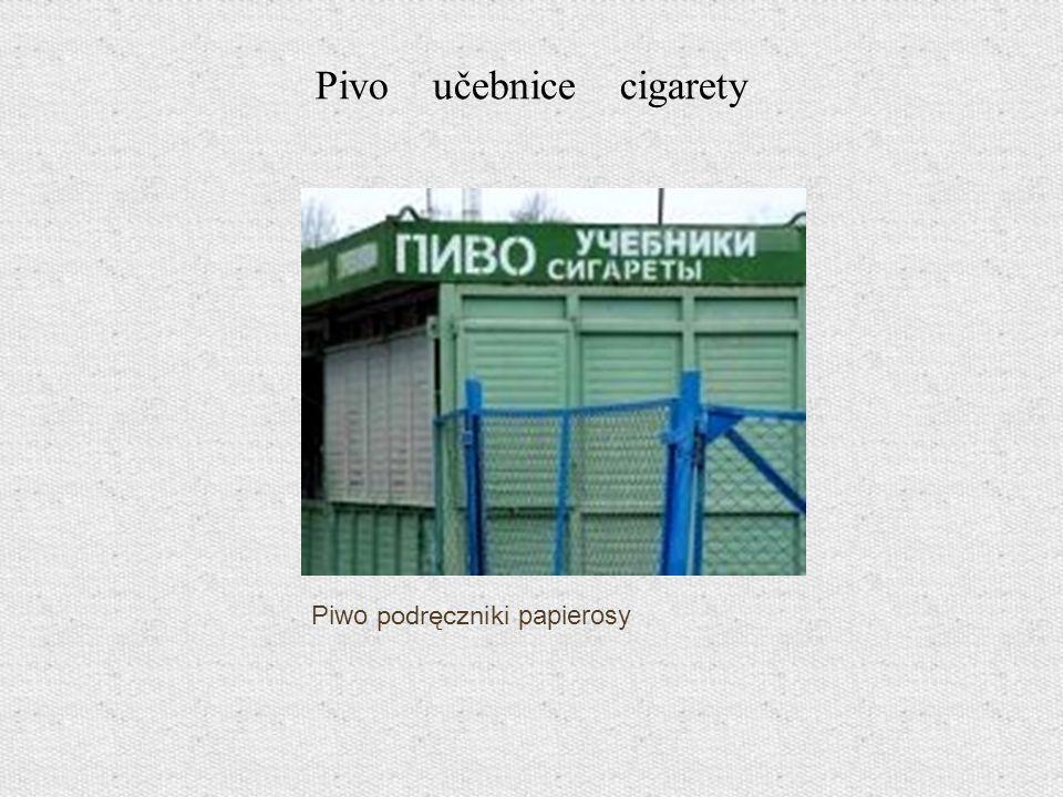 Piwo podręczniki papierosy Pivo učebnice cigarety