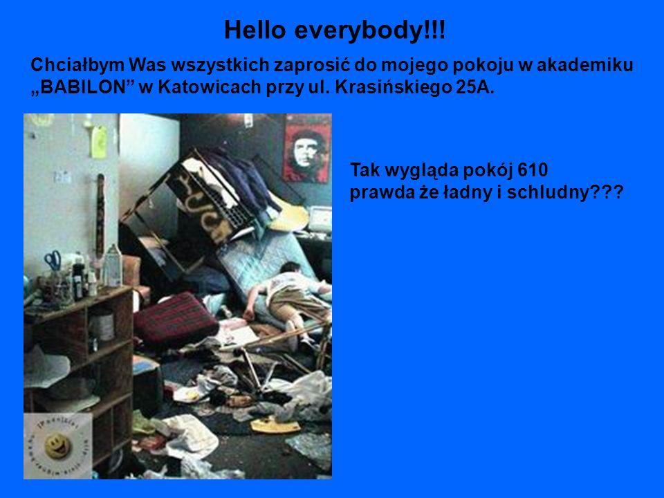 Chciałbym Was wszystkich zaprosić do mojego pokoju w akademiku BABILON w Katowicach przy ul. Krasińskiego 25A. Tak wygląda pokój 610 prawda że ładny i
