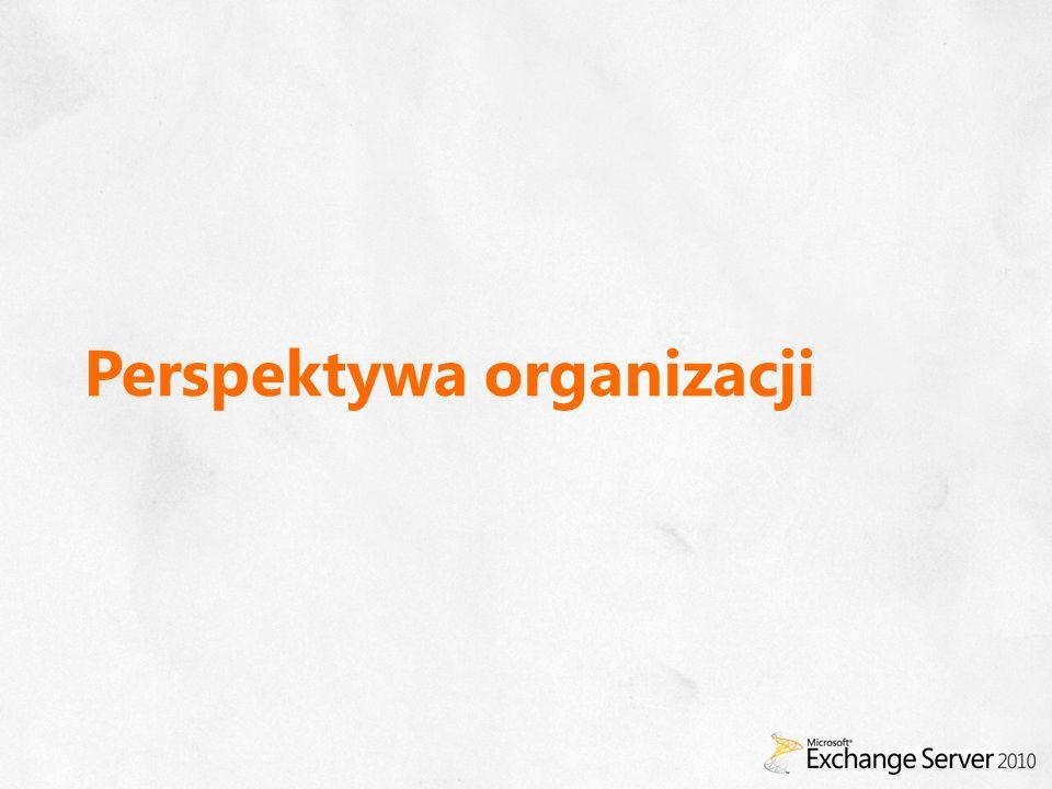 Exchange Server 2010 1 Licencja obejmuje dostęp za pomocą Microsoft Outlook, OWA i ActiveSync (licencję na Outlook należy nabyć osobno) 2 Wymagana licencja standard