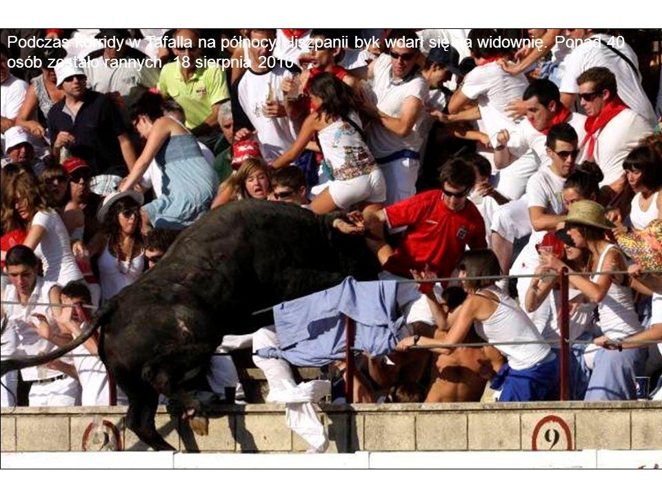 Podczas korridy w Tafalla na północy Hiszpanii byk wdarł się na widownię. Ponad 40 osób zostało rannych. 18 sierpnia 2010