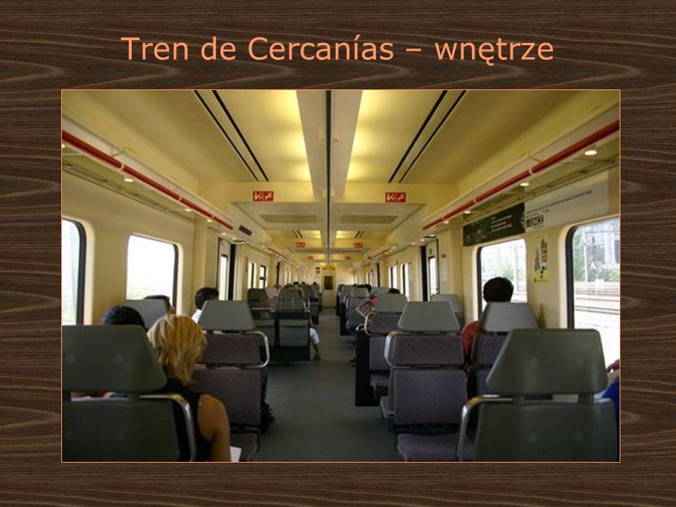 Tren de Cercanías – wnętrze