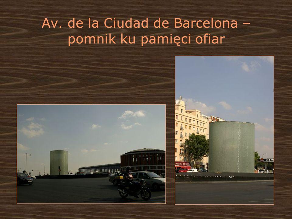 Av. de la Ciudad de Barcelona – pomnik ku pamięci ofiar