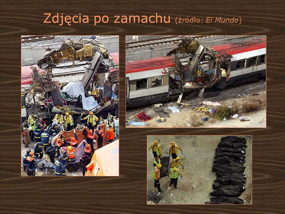 Zdjęcia po zamachu (źródło: El Mundo)