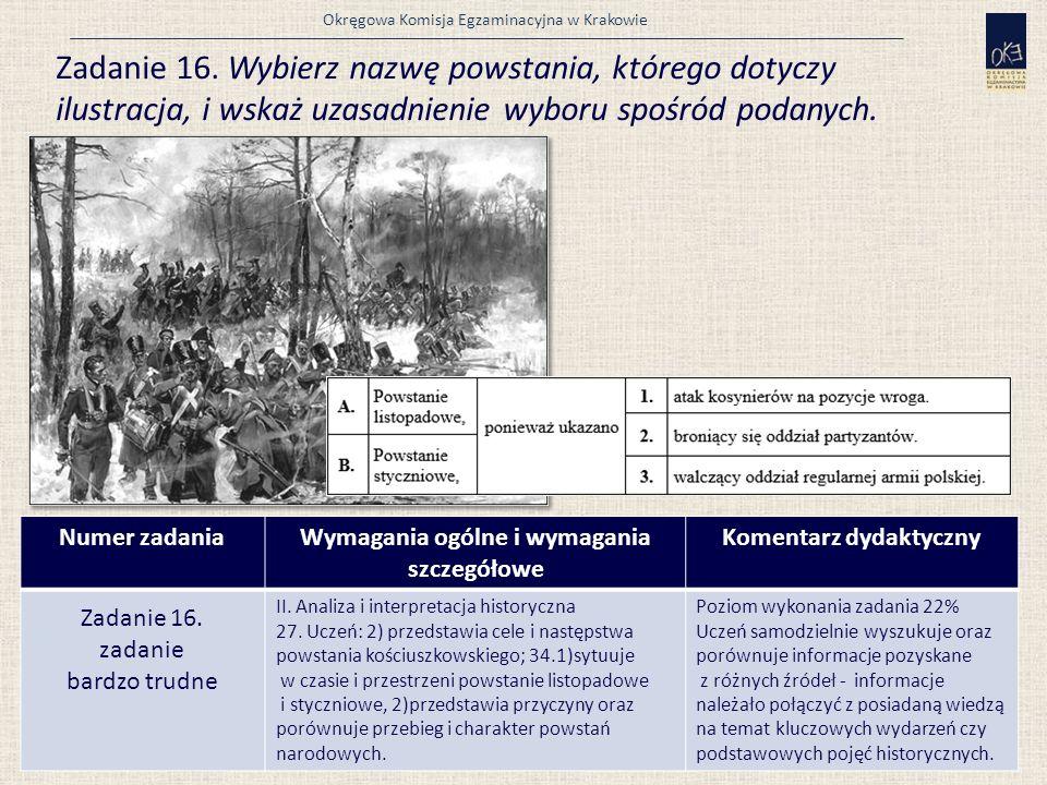 Okręgowa Komisja Egzaminacyjna w Krakowie Zadanie 16.