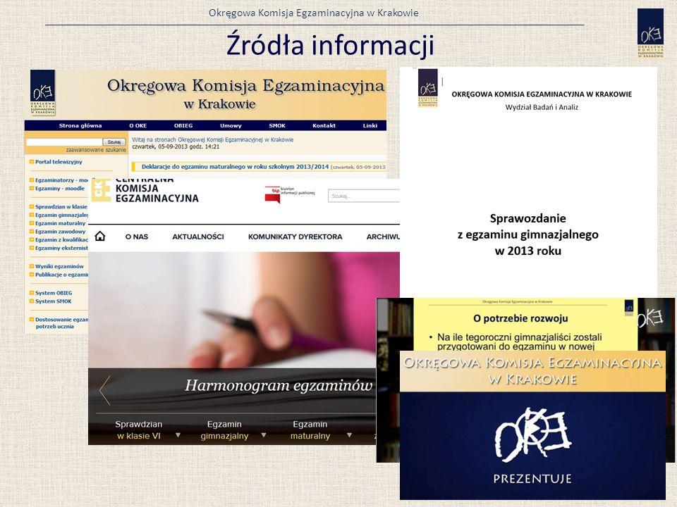 Okręgowa Komisja Egzaminacyjna w Krakowie Źródła informacji