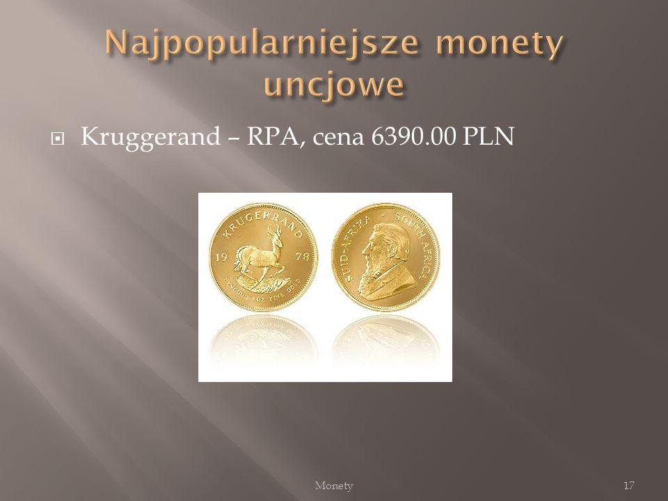 Kruggerand – RPA, cena 6390.00 PLN 17Monety