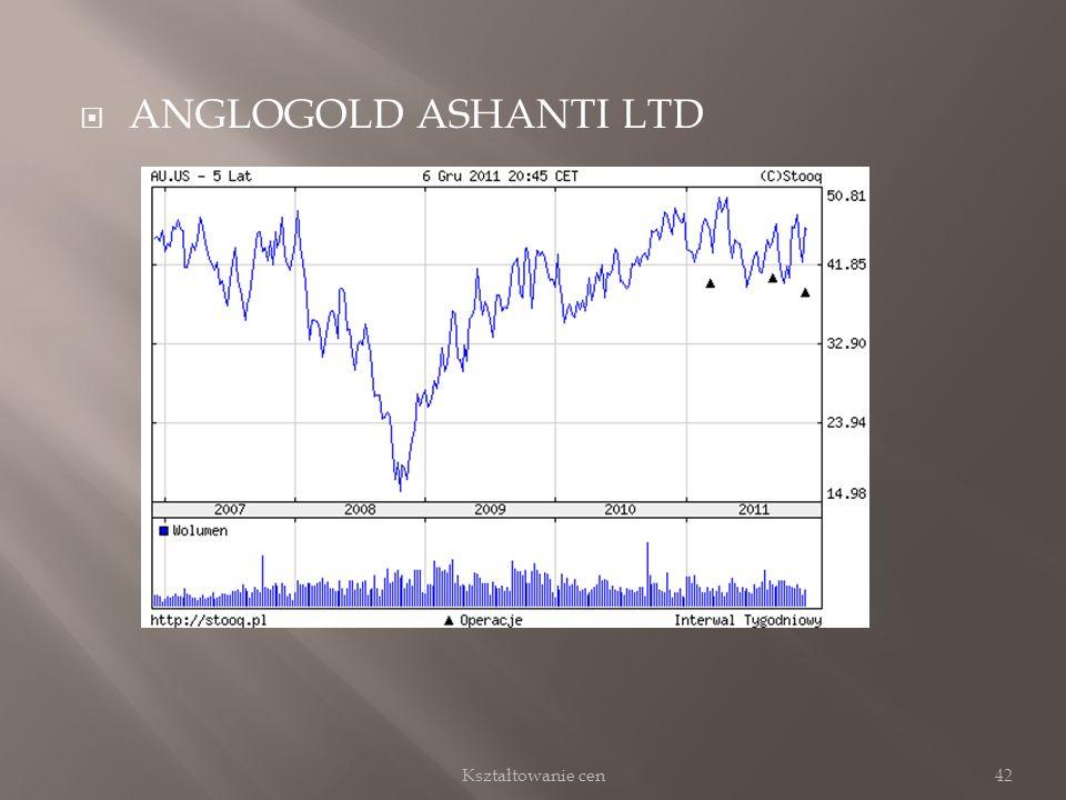 ANGLOGOLD ASHANTI LTD 42Kształtowanie cen