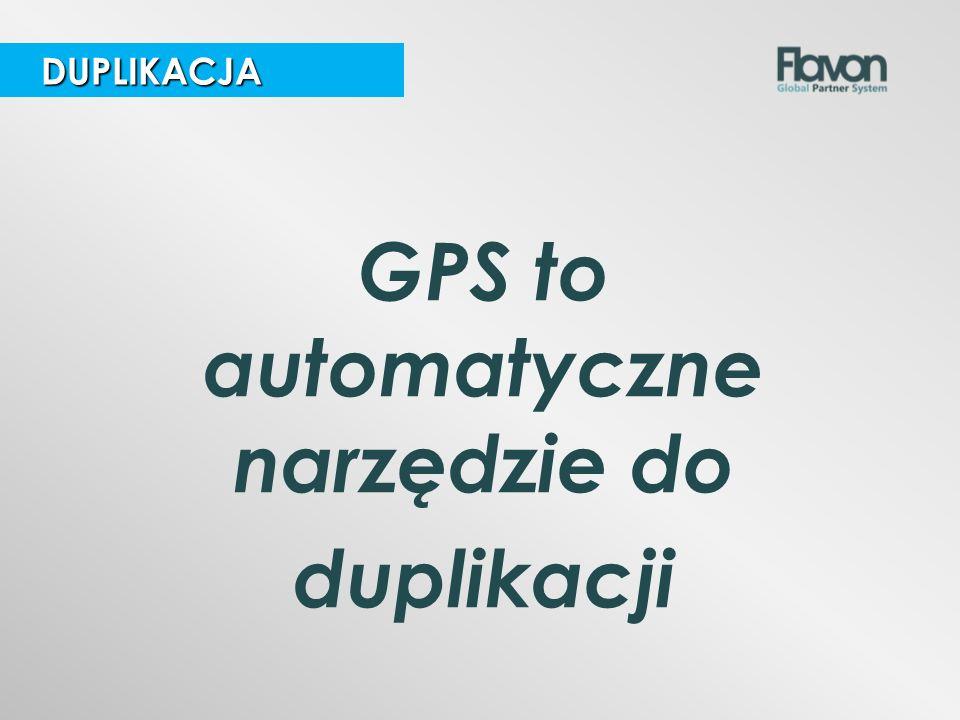 DUPLIKACJA DUPLIKACJA GPS to automatyczne narzędzie do duplikacji