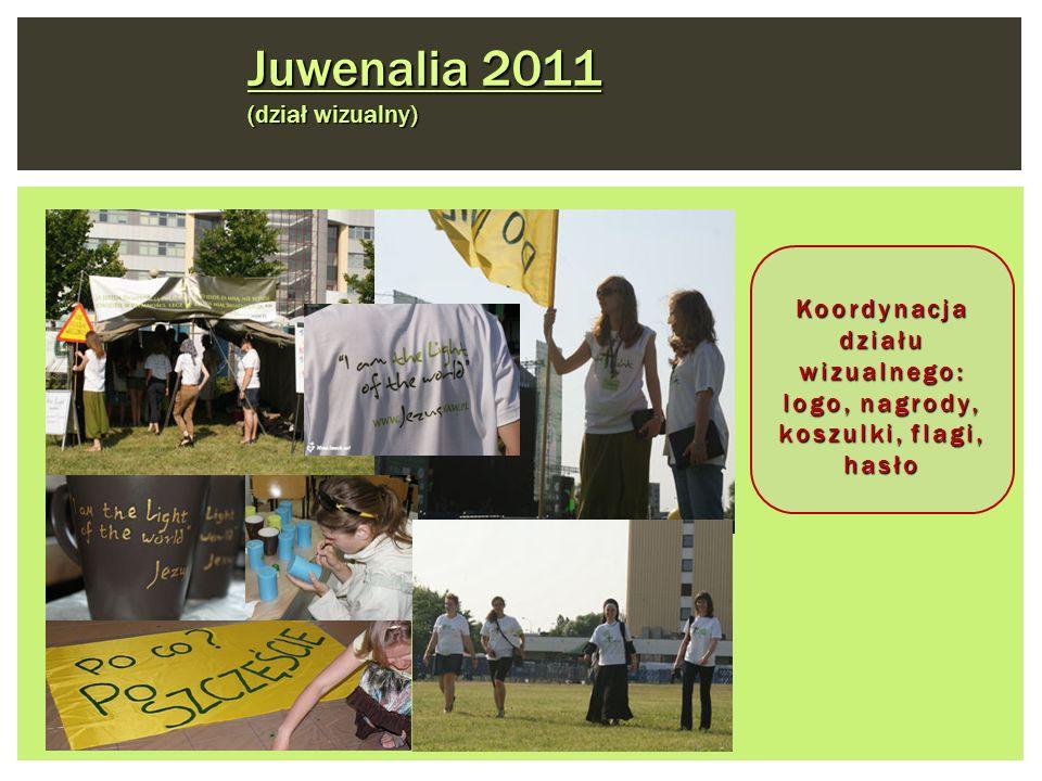 Juwenalia 2011 (dział wizualny) Koordynacja działu wizualnego: logo, nagrody, koszulki, flagi, hasło