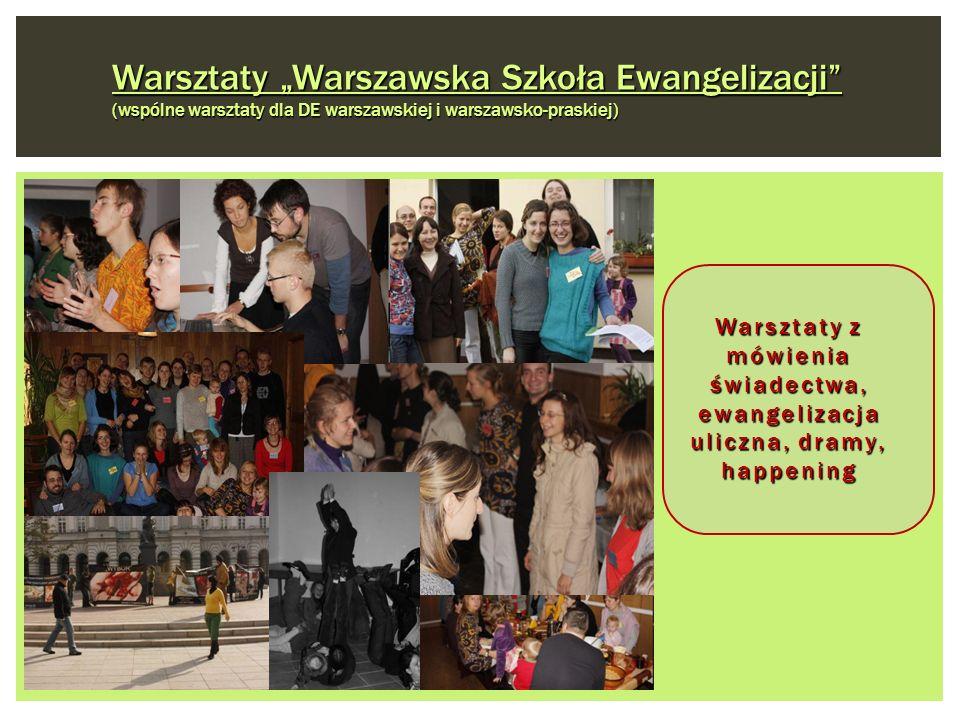 Warsztaty Warszawska Szkoła Ewangelizacji (wspólne warsztaty dla DE warszawskiej i warszawsko-praskiej) Warsztaty z mówienia świadectwa, ewangelizacja