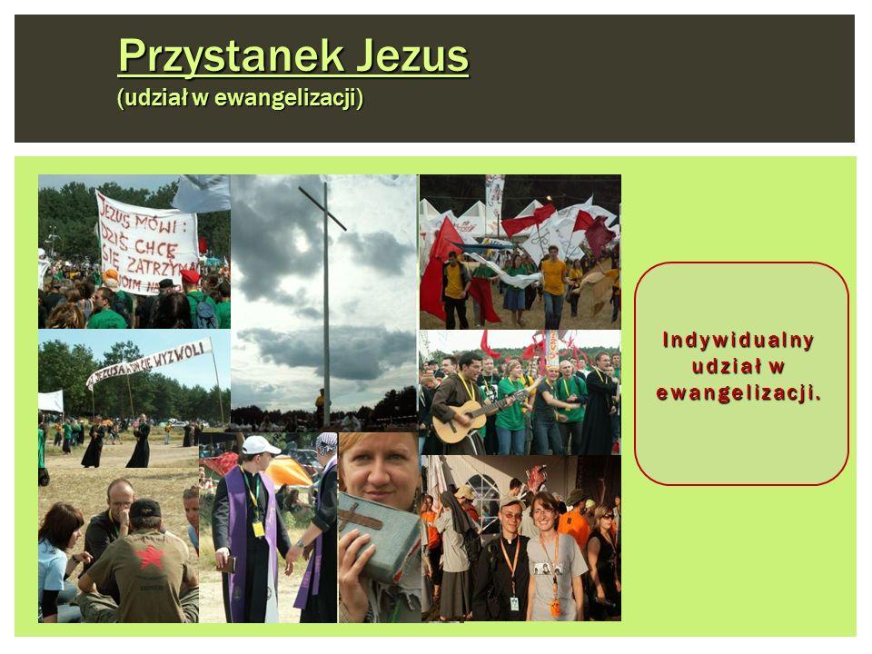 Przystanek Jezus (udział w ewangelizacji) Indywidualny udział w ewangelizacji.