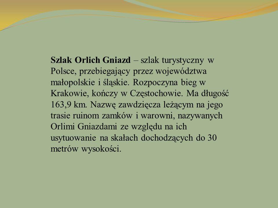 Szlak Orlich Gniazd – szlak turystyczny w Polsce, przebiegający przez województwa małopolskie i śląskie. Rozpoczyna bieg w Krakowie, kończy w Częstoch