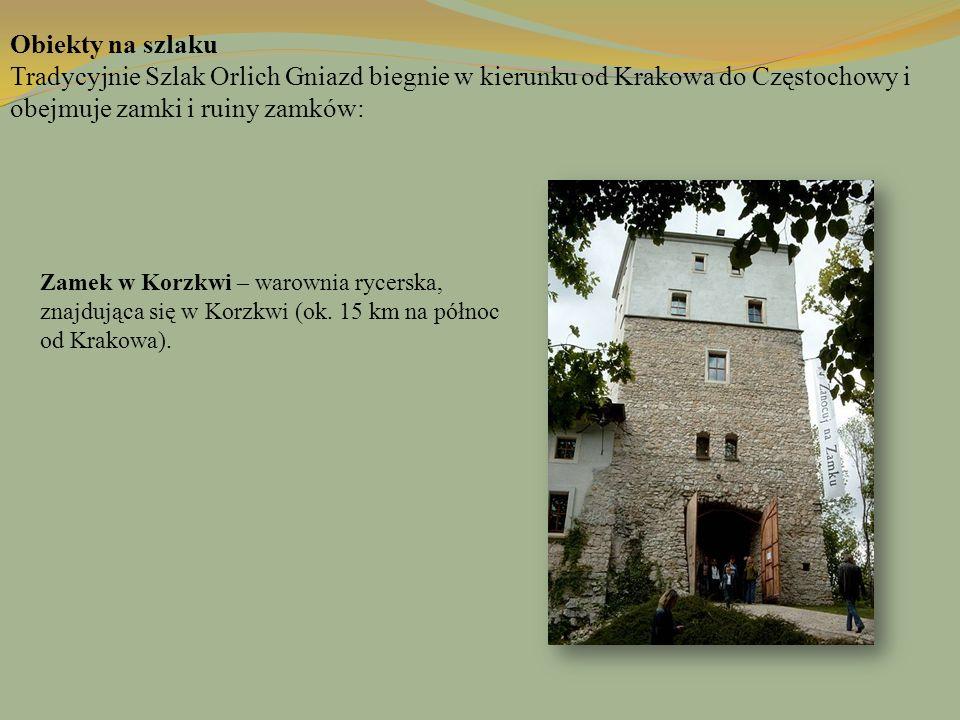 Zamek w Korzkwi – warownia rycerska, znajdująca się w Korzkwi (ok. 15 km na północ od Krakowa). Obiekty na szlaku Tradycyjnie Szlak Orlich Gniazd bieg