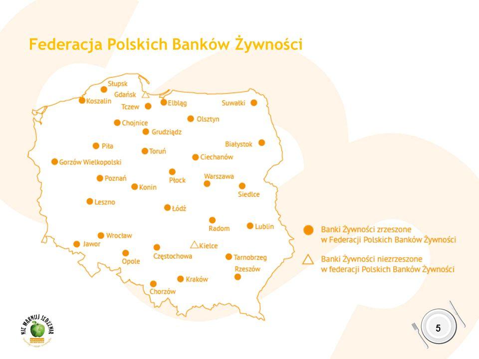 6 3 600 organizacji partnerskich w Polsce, współpracujących z Bankami Żywności