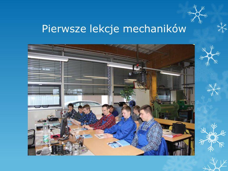 Pierwsze lekcje mechaników