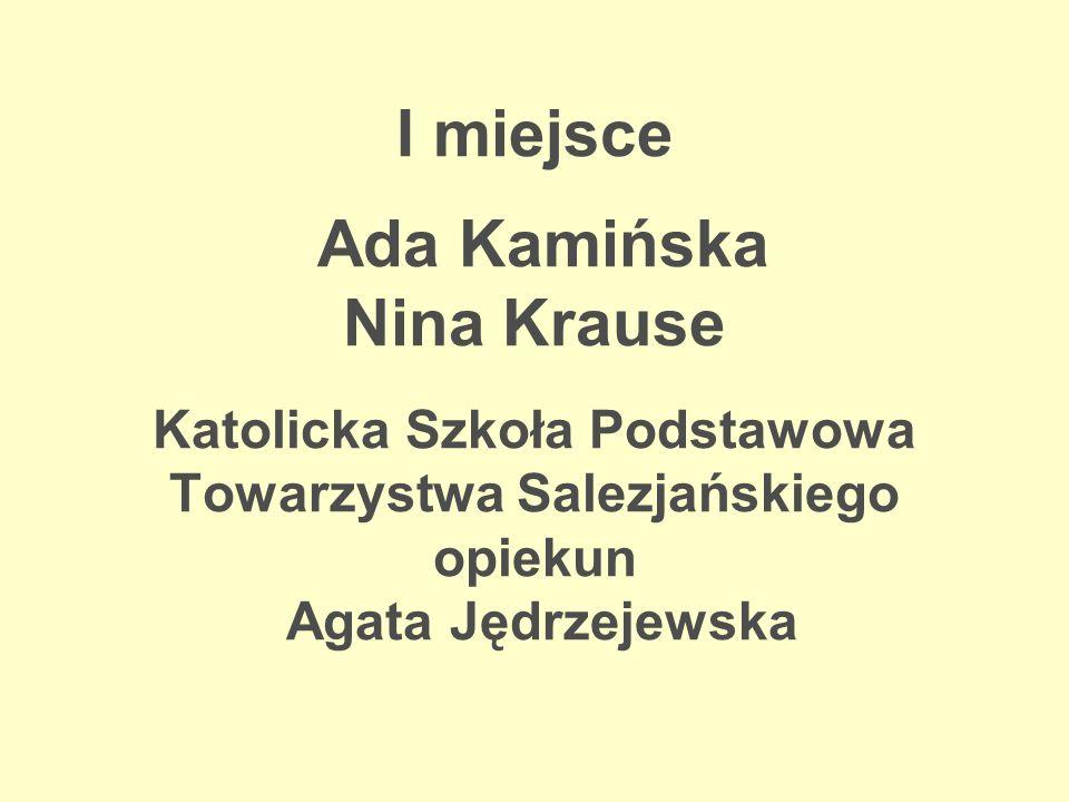 Wyróżnienie Julita Załęska Zespół Szkół Inżynierii Środowiska opiekun Justyna Lorenc-Jędrzejewska