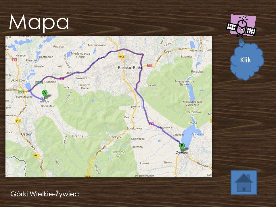 Trasa Zob.Mapa Dokładny opis trasy Górki Wielkie - 6:05 Żywiec - 7:05 Czas podróży : ok.