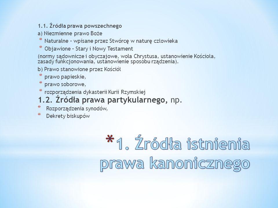 2.1.Z AKORZENIENIE PRAWA KANONICZNEGO W TRADYCJI P ISMA ŚW.