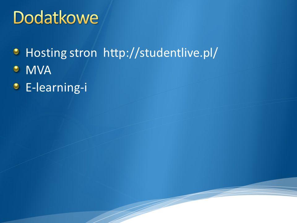 Hosting stron http://studentlive.pl/ MVA E-learning-i