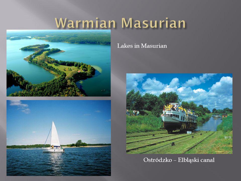 Lakes in Masurian Ostródzko – Elbląski canal