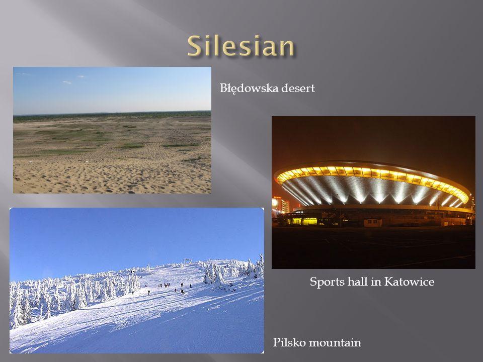 Pilsko mountain Błędowska desert Sports hall in Katowice
