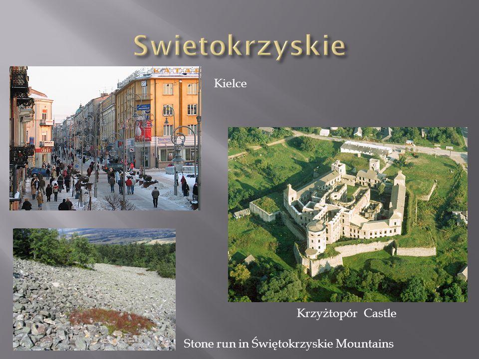Kielce Krzyżtopór Castle Stone run in Świętokrzyskie Mountains