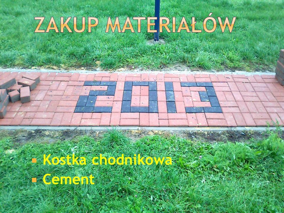 Kostka chodnikowa Cement