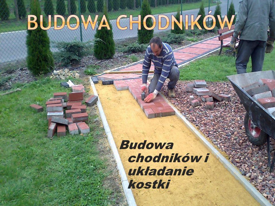Budowa chodników i układanie kostki