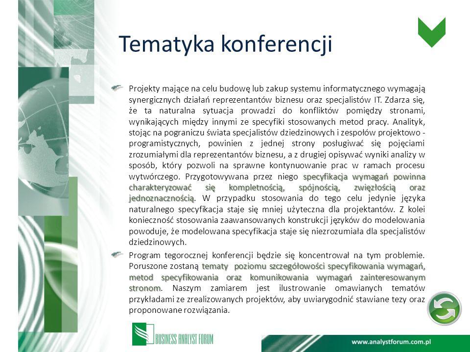 KONTAKT: Osobą upoważnioną do prowadzenia rozmów w sprawie patronatu medialnego jest Emilia Mazurek- kierownik działu szkoleń i konferencji Tel.