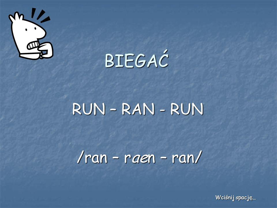 BIEGAĆ RUN – RAN - RUN /ran – raen – ran/ Wciśnij spację…