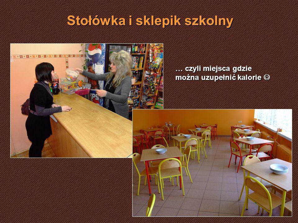 Stołówka i sklepik szkolny … czyli miejsca gdzie można uzupełnić kalorie … czyli miejsca gdzie można uzupełnić kalorie