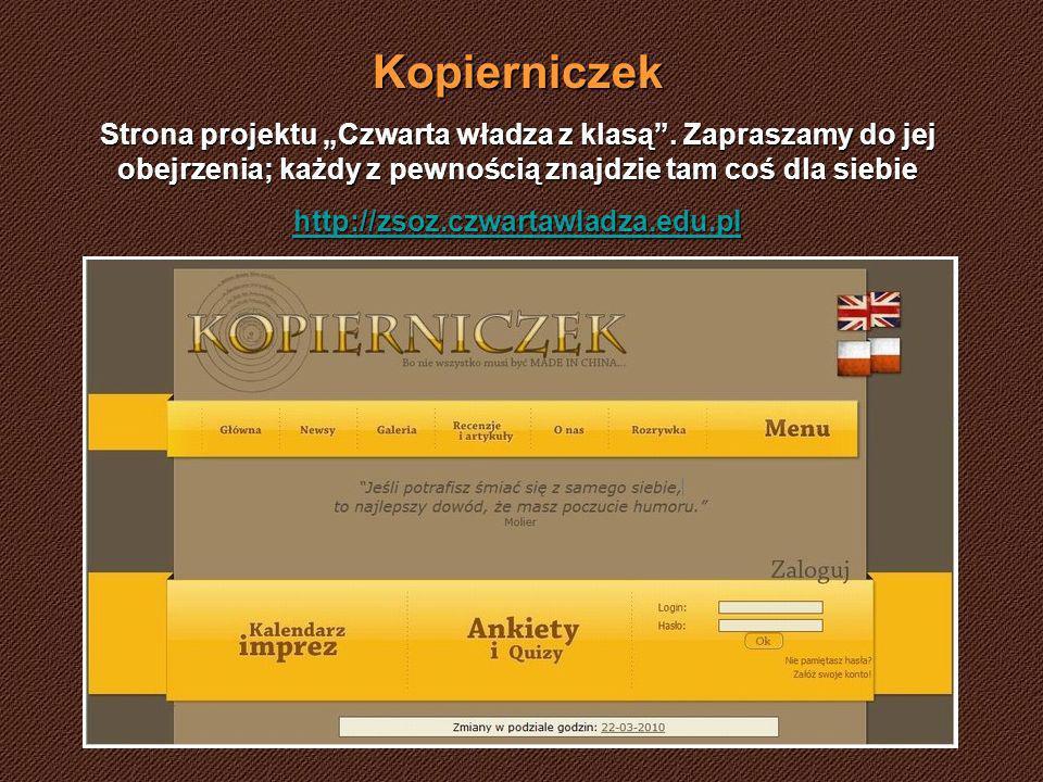 Kopierniczek Strona projektu Czwarta władza z klasą.
